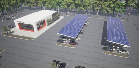 Tesla solar awnings