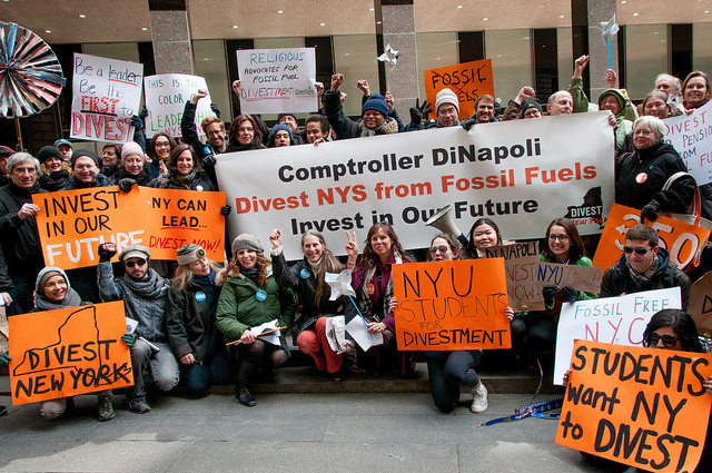 Divest NY Protest