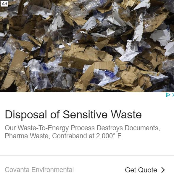 Covanta medical waste
