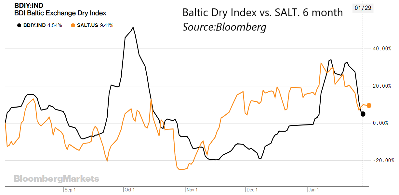 6 month BDI/SALT chart